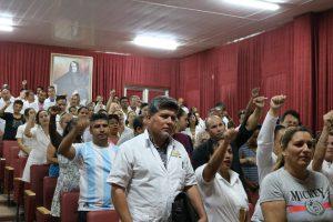 Trabajadores y directivos del Hospital Clínico Quirúrgico Lucía Iñiguez Landín ratificaron su apoyo a la liberación del ex presidente brasileño Luis Ignacio Lula Da Silva